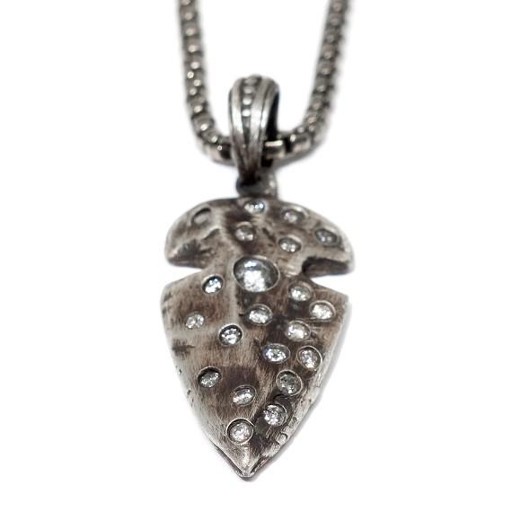 Arrowhead pendant on silver chain silver arrowhead pendant on silver chain mozeypictures Gallery