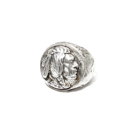 Silver Indian Head Ring