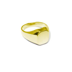 Men's Gold Octagon Signet Ring