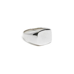 Classic Silver Men's Signet Ring