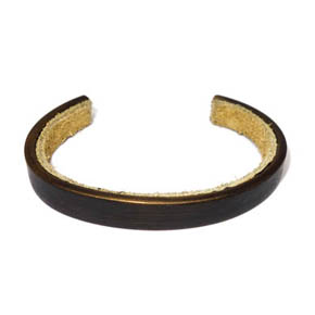 10mm Wide Brass and Suede Cuff
