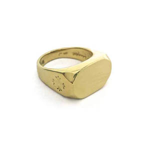 18KT Gold Signet Men's Ring