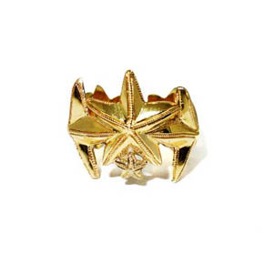 18kt Gold Star Ring