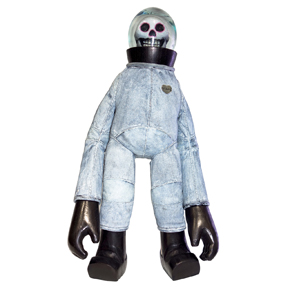 Limited Edition Whitewash Skullstonaut Blamo Doll