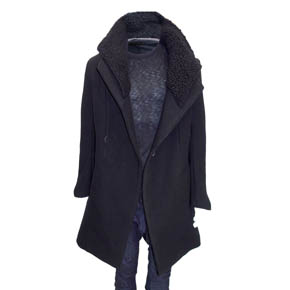 A.F. Artefact Black Tailored Coat