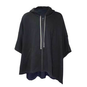 A.F Artefact Black Zip Hooded Poncho