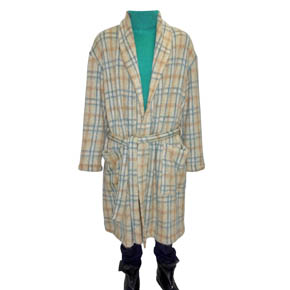 A.F. Artefact Ivory, Blue, & Mustard Coat Robe