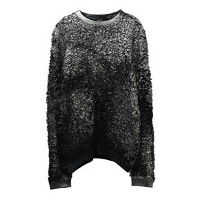 Avant Toi Round Neck Furry Stitch With Lamination Sweater