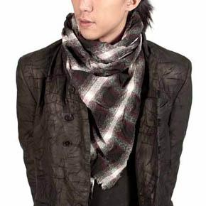 Backlash Black and Red Tartar Scarf
