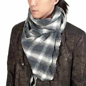 Backlash Blue and Grey Tartar Scarf