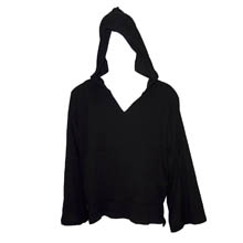 Black Hooded Desert Sun Shirt