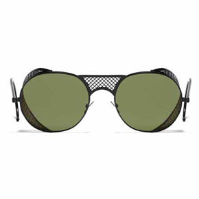 Black Matte and Green L.G.R. Lawrence Men's Sunglasses