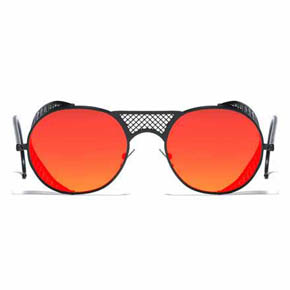 Black Matte Red Mirror L.G.R. Lawrence Men's Sunglasses