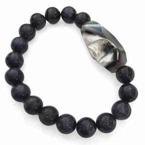 Blue Tiger's Eye & Agate Men's Bracelet