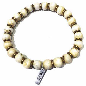 Brass and Conch Shell Men's Bracelet