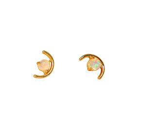 Brass & Opal Earrings