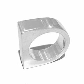 Contemporary Men's Silver Ring