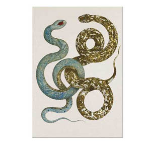D.L. & Co. Snake w.Glitter Greeting Card