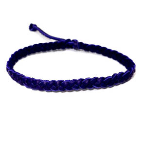 Deep Purple Deerskin Braided Bracelet