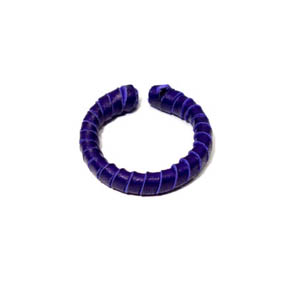 Deep Purple Woven Leather Cuff Ring