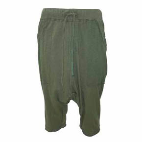 Green Drop Crotch Sweat Shorts