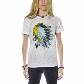 Hand Printed Native American Chief T-Shirt