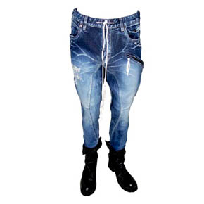 KMRii crushed Indigo Denim & Python Jeans