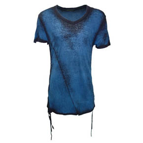 Kmrii Limited Edition Blue Short Sleeve Side Shirring Shirt