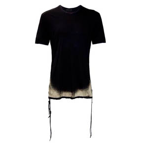 KMRii Spray Side Shirring Black Shirt