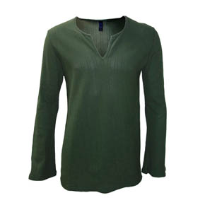 Lazaro Flared Green Shirt