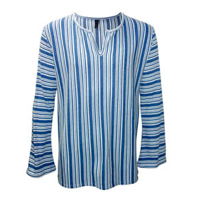 Lazaro Flared Striped Shirt
