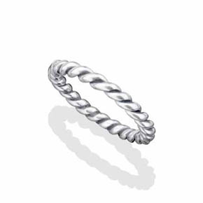 Medium Silver Rope Ring