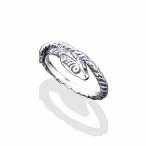 Stackable Silver Snake Ring