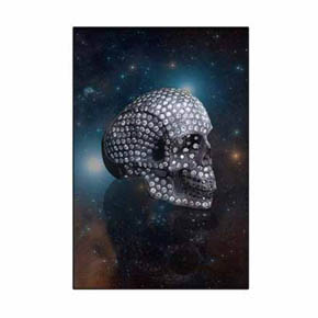 Hybrid Alien Human Skull on Orion's Belt Canvas Print