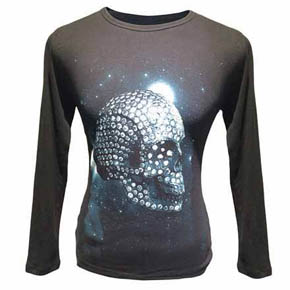 Thermal Long Sleeve Skull Shirt
