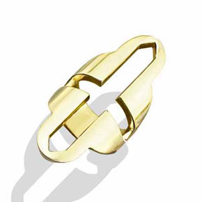 Brass Open Cross Ring
