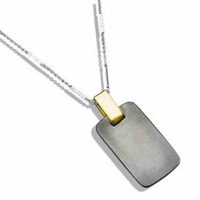 Handmade 18K Gold & Silver Dog Tag