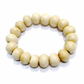 Bone Bead Men's Bracelet