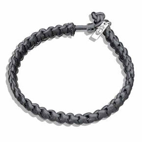 Hand Braided Black Leather Bracelet