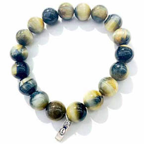 12mm Natural Tiger's Eye Bracelet