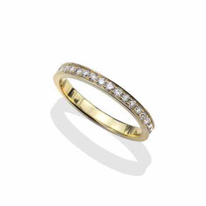 18Kt Gold & Diamond Men's Eternity Band