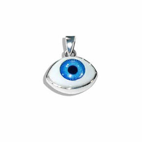 Glass & Silver Evil Eye Pendant