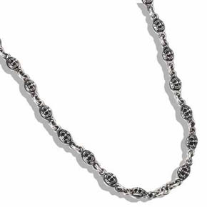 Silver Double Sided Crown Chain