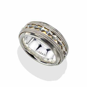 Silver Eternity Egyptian Pyramid Ring