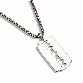 Razor Blade Pendent On Box Chain