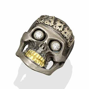 The Karma Silver Skull Ring