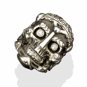 The Philosopher Silver Skull Ring
