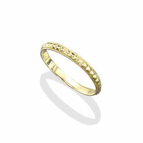 18K Small Gold Infinity Pyramid Band