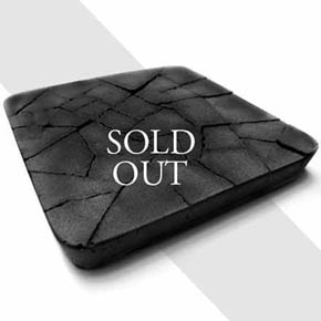 Water Absorbent Coaster - Dry Land (Black)