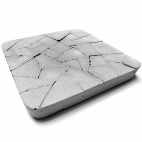 Water Absorbent Coaster - Dry Land (Gray)
